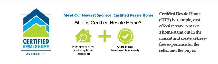 Certified Resale Home Welcome