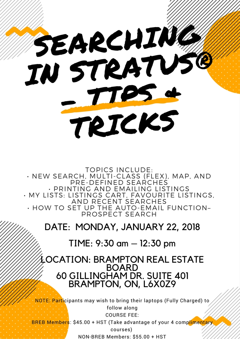SEARCHING IN STRATUS – TIPS & TRICKS