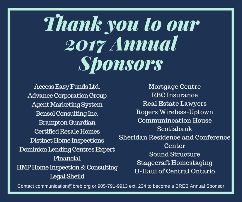 Thank you to our 2017 Annual Sponsors