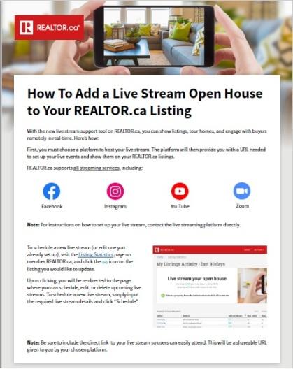 Realtor Live Stream